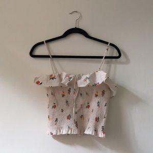 Zara ruffle floral top